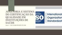 Aula1 - Gerenciamento de Risco em Saúde ISO 31000 2018 - Abril de 2020
