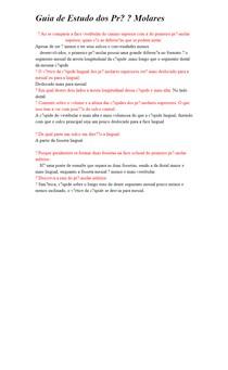 Guia de Estudo dos Pré Molares