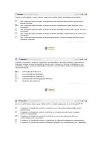 AV1 - PLANEJAMENTO E CONTROLE DE PRODUÇÃO INTEGRADO A LOGISTICA