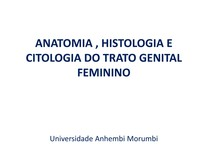 AULA anatomia, histologia e cito