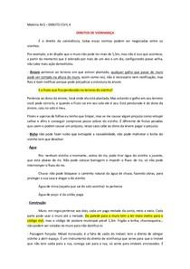 DIREITO CIVIL 4 - DIREITO DE VIZINHANÇA