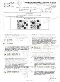 Avaliação II   Matemática