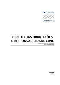DIREITO DAS OBRIGACOES E RESPONSABILIDADE CIVIL 2013-1