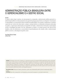 Paes de Paula - Administração Publica entre o gerencialismo e a gestao social