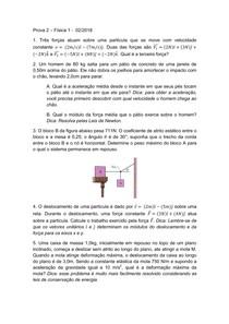 Prova 2 - Física 1