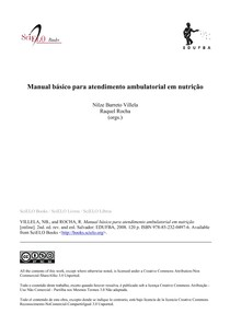 Manual do nutricionista de ambulatorio