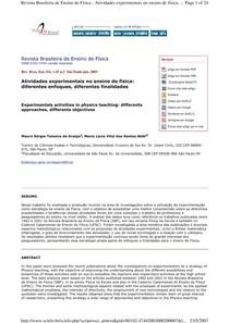 ABIB 2003 - Atividades Experimentais