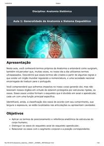 Aula 1 Generalidade de Anatomia e Sistema Esquelético