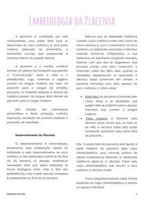 Embriologia da Placenta
