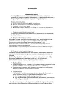 Resumo de Imunologia Básica