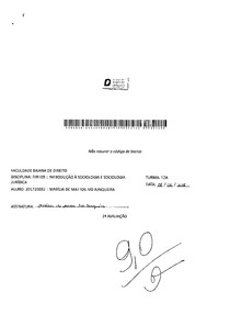 AV2 Sociologia Jurídica - Cláudia Albagli 2018.1