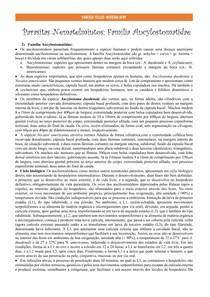 Parasitas Nematelmintos: família Ancylostomidae
