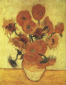 Vincent Willem van Gogh-still_life_vase_with_fifteen_sunflowers_yellow