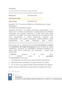 Apol Processos sintáticos e semânticos Uninter