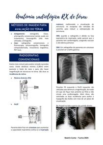 Anatomia radiológica - Tórax