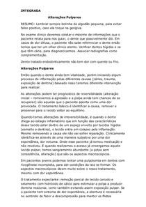 Alterações Pulpares (INTEGRADA)