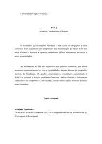 Ava 2 atuaria e contabilidade de seguros