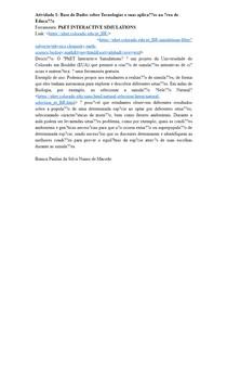 Atividade 1: Base de Dados sobre Tecnologias e suas aplicações na área de Educação
