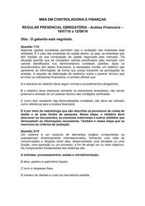 ANÁLISE FINANCEIRA   REGULAR PRESENCIAL OBRIGATÓRIA   TENTATIVA 1