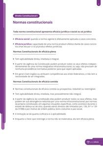 Normas constitucionais - Resumo