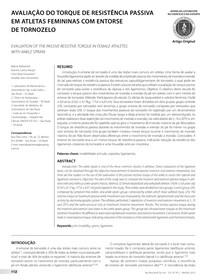 Avaliação do torque de resistência passiva em atletas femininas com entorse de tornozelo pdf