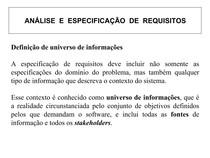 Análise e especificação de requisitos