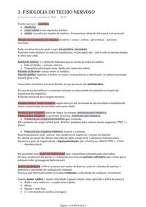 FISIOLOGIA DO TECIDO NERVOSO