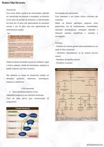 Resumo Amenorreia