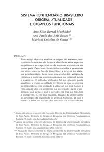 SISTEMA PENITENCIÁRIO BRASILEIRO   origem, atualidade e exemplos funcionais