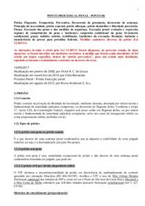 PONTO PROCESSUAL PENAL –PONTO 06