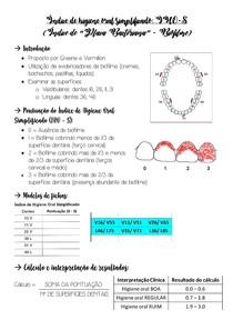Índice de higiene oral simplificado (IHO-S)