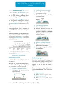 Resumo - Etipatogênese das Doenças Periodontais