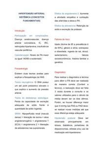 HIPERTENSÃO ARTERIAL SISTÊMICA (Conceitos fundamentais)