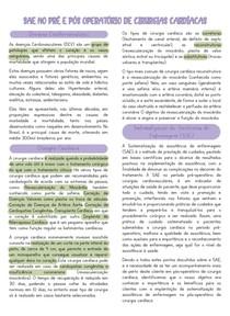 SAE NO PRÉ E PÓS OPERATÓRIO DE CIRURGIAS CARDÍACAS