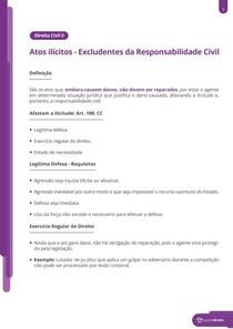 Excludentes da responsabilização civil - Resumo
