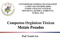 Aula 7 compostos organicos Metais