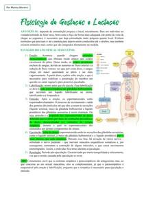 Fisiologia da Gestação e Lactação (resumo)