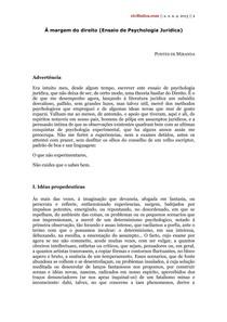2697761c56 À Margem do Direito - Pontes de Miranda - Psicologia Jurídica - 4