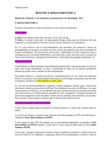 Resumo farmacodinâmica (Eduardo Dias)