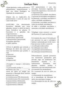 Exercício - Fisiologia Óssea
