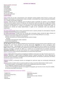 RESUMO - Direito do Trabalho I - 2° Bi
