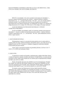 AÇÃO DE INDENIZAÇÃO POR DANOS MATERIAIS C/C PENSÃO ALIMENTÍCIA POR MORTE