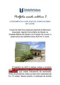 Portfólio saúde coletiva I - ACS