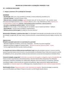 RESUMO DAS TUTORIAS MÓD 2 LOCOMOÇÃO E PREENSÃO 7ª FASE