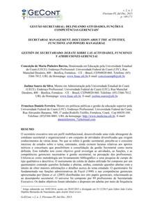 GESTÃO SECRETARIAL   DELINEANDO ATIVIDADES, FUNÇÕES E COMPETÊNCIAS GERENCIAIS