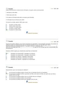 Avaliação Parcial (Processo de Desenvolvimento de Software)