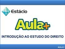 2.3_AULA +_INTRODUÇÃO AO ESTUDO DO DIREITO
