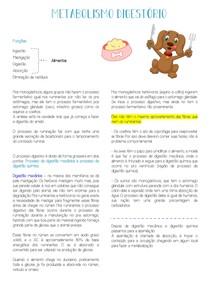 Metabolismo digestório
