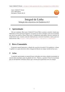 Exercícios Resolvidos Guidorizzi volume 3 capítulo 6.5