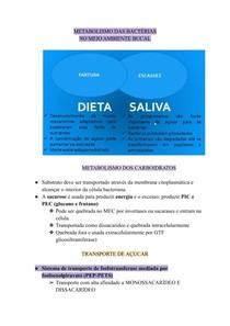 METABOLISMO DAS BACTÉRIAS DO MEIO AMBIENTE BUCAL